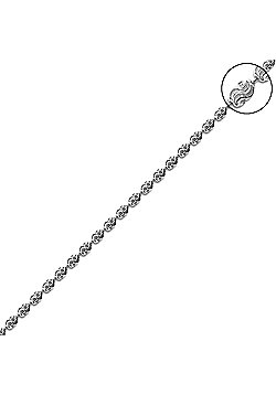Rhodium Coated Sterling Silver Raindrop Bead Necklace - 22 inch