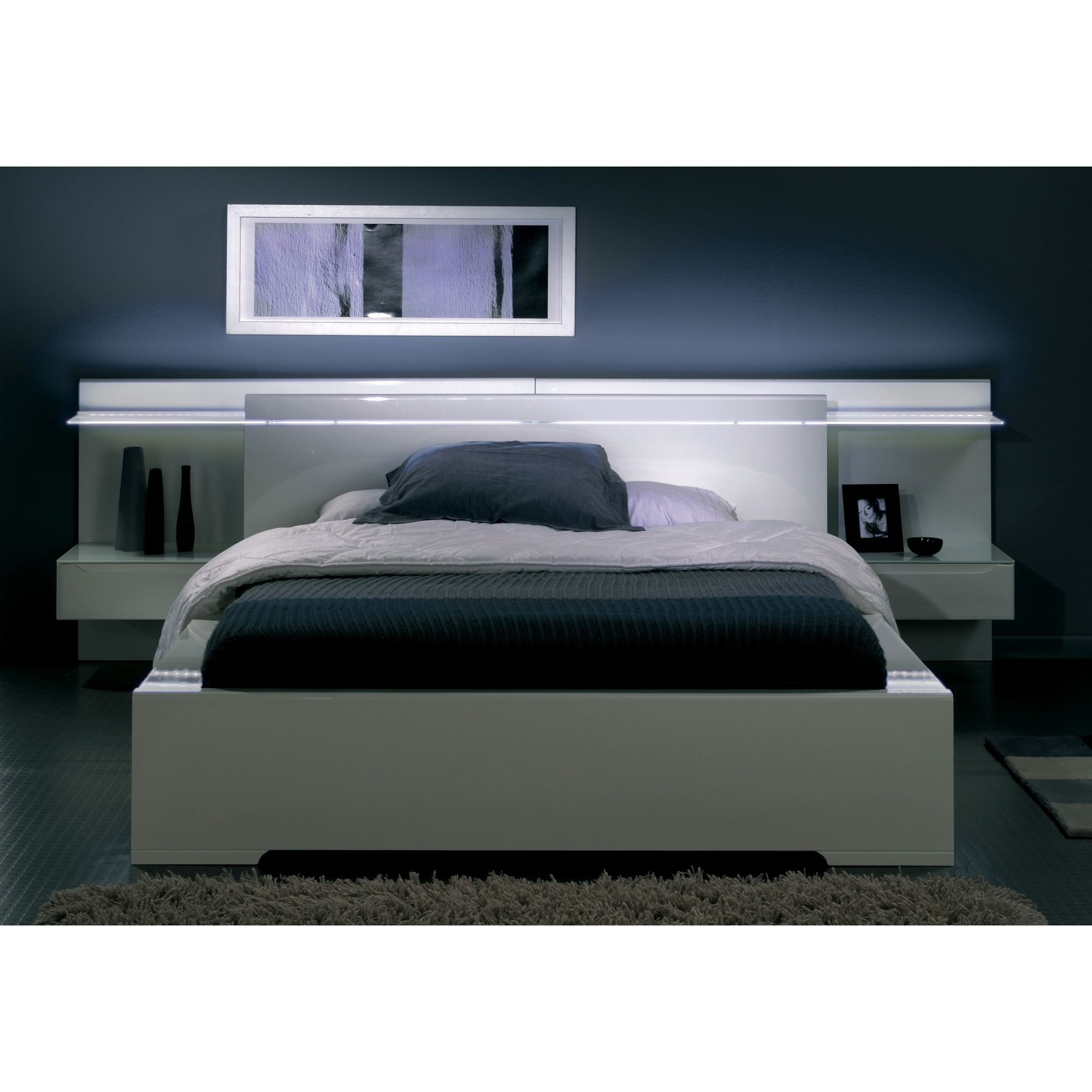 Parisot Ambynight Headboard in White - 85 cm x 133 cm x 37 cm at Tesco Direct