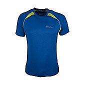 Glide Mens Short Sleeve Exercise Running Walking Cycling Active Base Layer Top - Electric blue