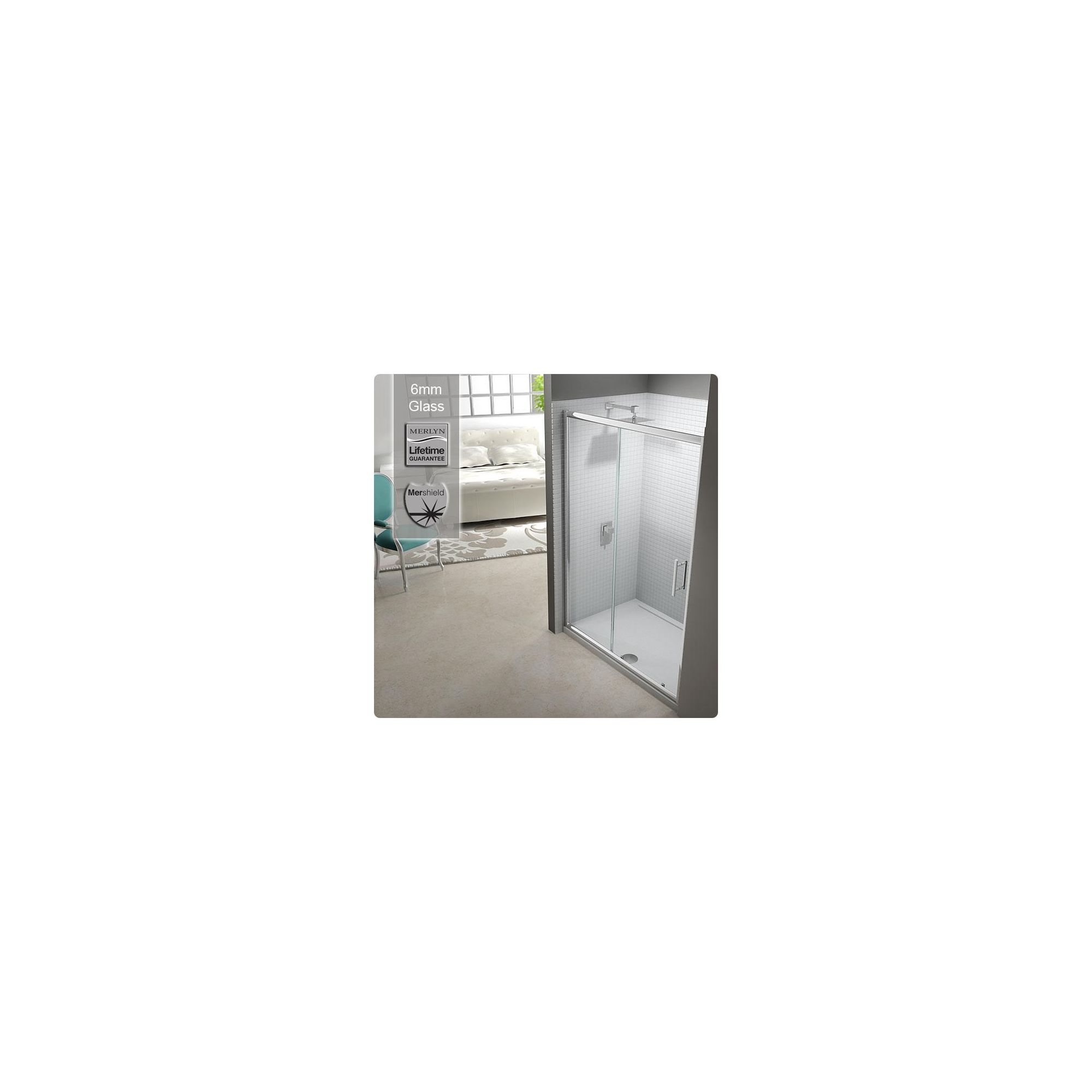 Merlyn Series 6 Sliding Door Shower Enclosure, ALCOVE 1000mm x 800mm, Low Profile Tray, 6mm Glass at Tesco Direct