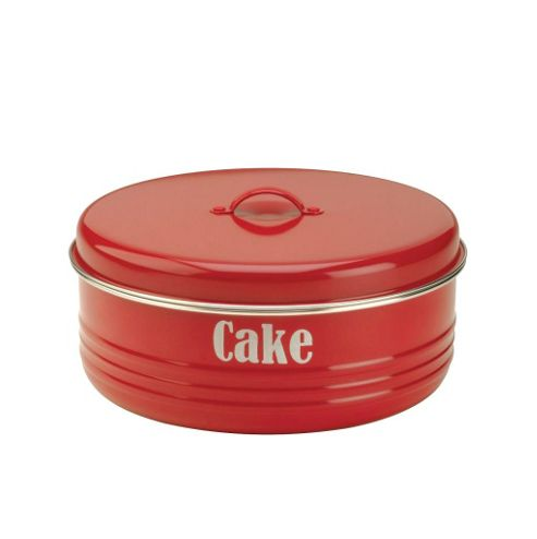 Typhoon Vintage Cake Tin, Red