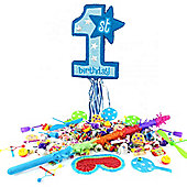 Age One Blue Pull Pinata Kit