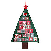 Large Fabric Christmas Tree Advent Calendar