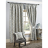 KLiving Florence 90x90 Duck Egg / Teal Pencil Pleat Curtains
