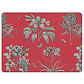 Sanderson for Pimpernel Etchings & Roses Red Placemats, Set of 6