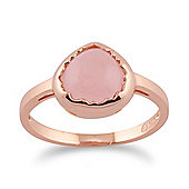 Gemondo Rose Quartz 'Diantha' Pastel Ring in 9ct Rose Gold Plated Sterling Silver
