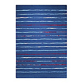 Esprit Joyful Stripes Blue Woven Rug - 80 cm x 150 cm (2 ft 7 in x 4 ft 11 in)