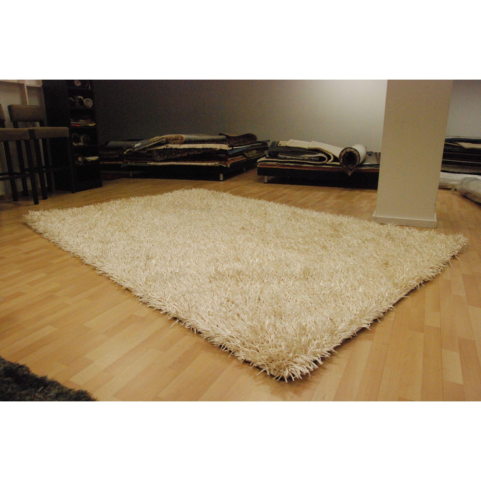Angelo Capri White Knotted Rug - 300cm x 200cm (9 ft 10 in x 6 ft 6.5 in)