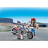 Playmobil Biker With Motorcycle Gift Egg - 5280