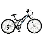 "Saxon Hurricane 24"" Kids' Unisex Dual Suspension Mountain Bike"