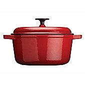 Kitchen Craft Kccecasrd24 Cast Iron Casserole Red 3.8L