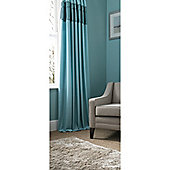 Catherine Lansfield Home Fine Luxury Collection Heat Seal curtains Duckegg 168cm wide x 183cm drop (66x72 inches)