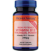 Higher Nature High Potency Vitamin B12 Sublingual Powder