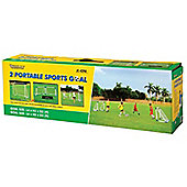 Kids Football Portable Soccer Goal Posts Twin Match Day Set