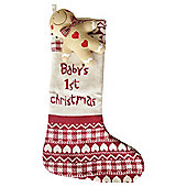 Bizzi Growin Christmas Stocking With Gingerbread Man Rattle