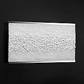 Leucos Colage Chrome Frame Wall Light - Silky White / Opaque White