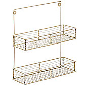 Caddy - Wall Mounted Two Tier Spice Rack - Antique Cream