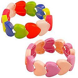 Stretchy Heart Bracelet - Plastic