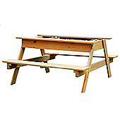 Wooden Sandpit Picnic Table 1.2m wide for up to 4 Children