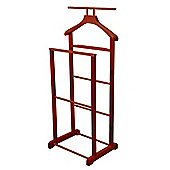 Jeeves - Solid Wood Rustic Clothes Valet / Hanging Rail - Mahogany