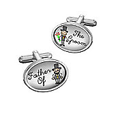Sub Text Father of the Groom Wedding Cufflinks By WD London