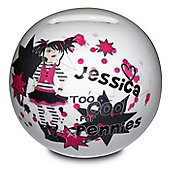 Personalised Too Cool Girl Money Box