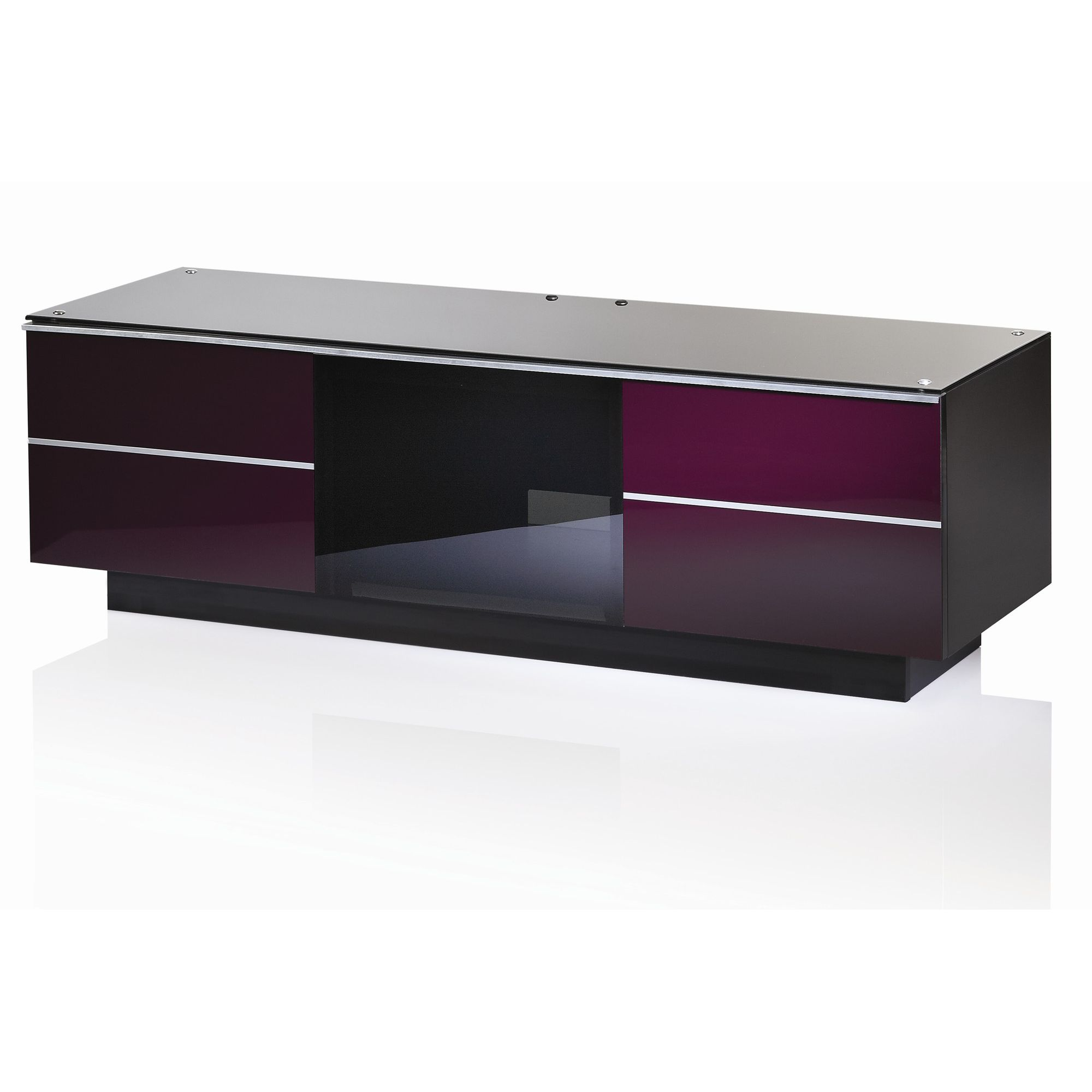 UK-CF G Series GG TV Stand - Damson - 135cm at Tesco Direct