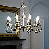 Endon Lighting Swirl Chandelier in Antique