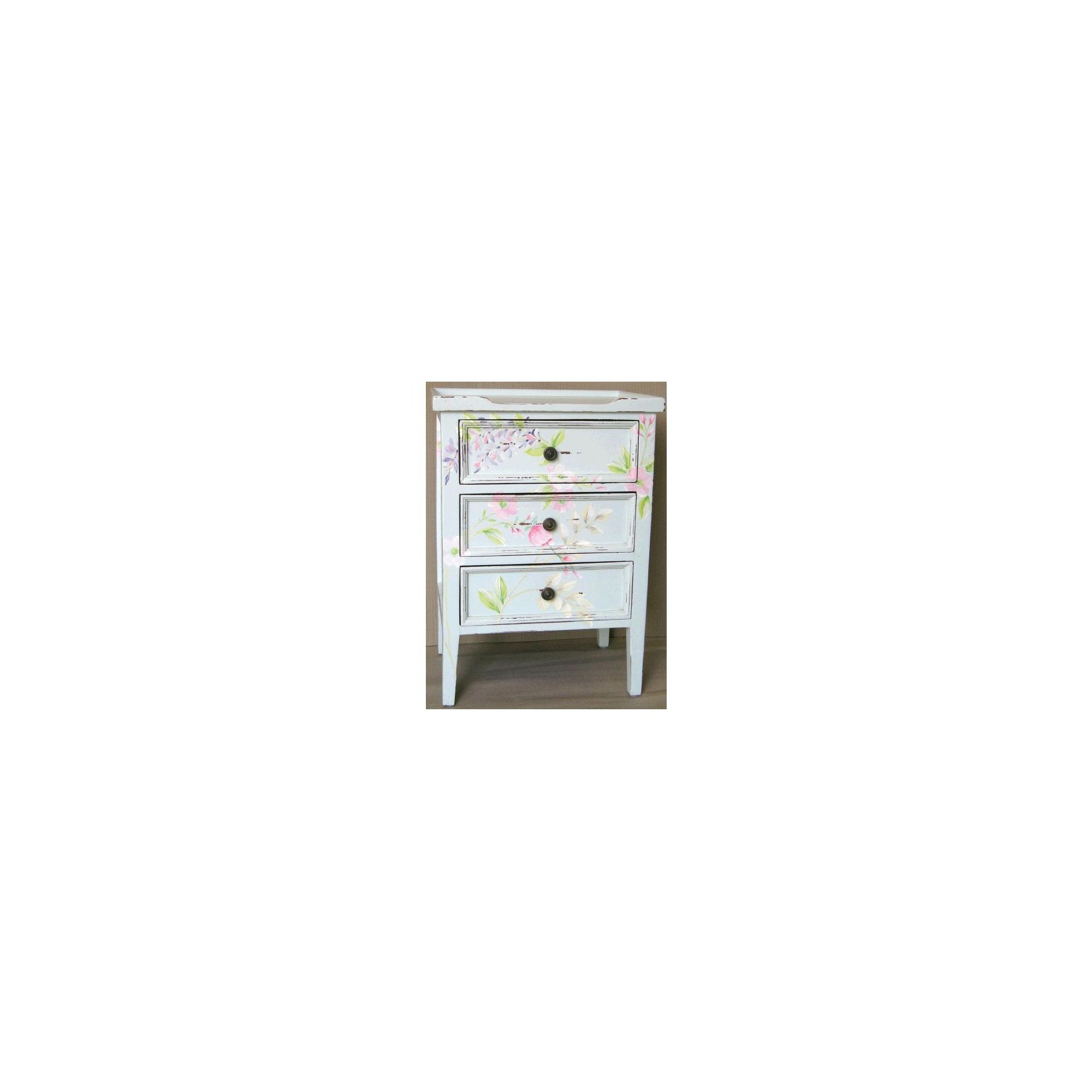 Lock stock and barrel Shell Eton 3 Drawer Side Table - Pastel Flowers at Tescos Direct