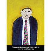 Holy Mackerel New tie for Christmas Greetings Card