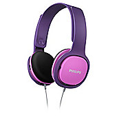 Philips SHK2000PP/10 Kids On-Ear Headphone - Pink & Purple