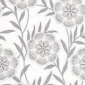Superfresco Easy Flora Wallpaper - Grey