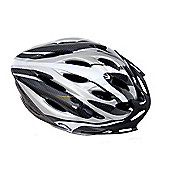 Coyote Sierra Dial Fit Adult Cycling Helmet Silver Medium