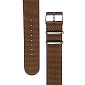 Rec Unisex Brown Watch Strap 22-DKBRN-SAT