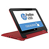 "HP x360 Cel/4GB/500GB/11.6"" Laptop - Red"