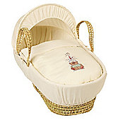 Clair de Lune Tippy Tumble Palm Moses Basket (Cream)