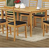 Elements Athens Oak Dining Table - 140cm W x 80cm D