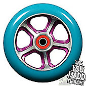 Madd Gear DDAM CFA 110mm Scooter Wheel Including Bearings - Purple/Turquoise