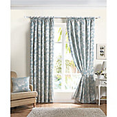 Curtina Renoir Duck Egg 90x90 inches (228x228cm) Lined Curtains