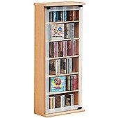 VCM Classic CD / DVD Storage Tower - Beech