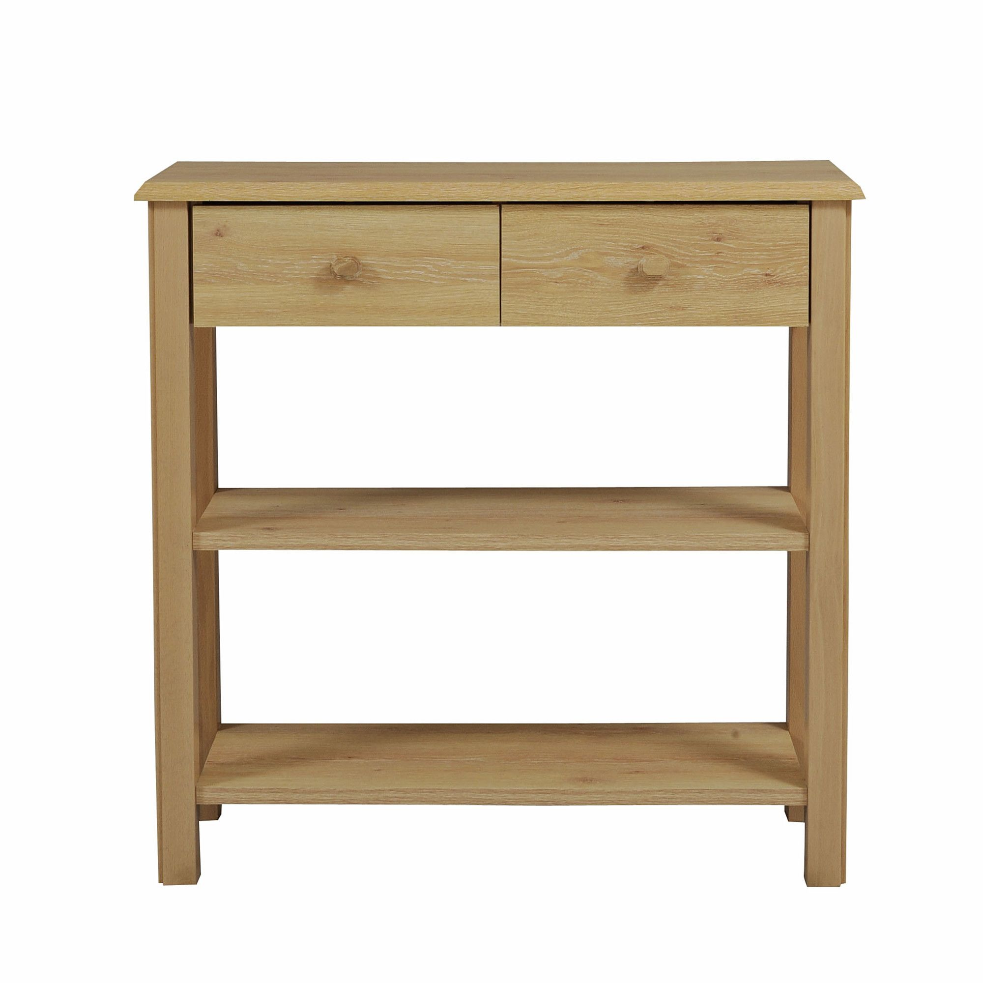Caxton Driftwood Console Table in Limed Oak at Tesco Direct
