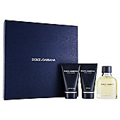 Dolce & Gabanna Pour Homme Eau de Toilette 75ml, Shower Gel 50ml & After Shave Balm