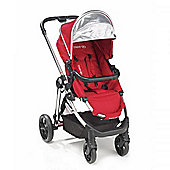 Mee-Go Glide 3 in 1 Pram/Isofix Travel System - Cherry (Red)