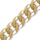 Jewelco London 9ct Solid Gold premium Curb Men's Bracelet - 13.2mm guage