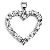 Jewelco London 18 Carat White Gold 1ct Diamond Pendant