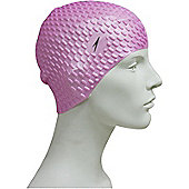 Speedo Bubble Senior Silicone Swimming Cap - Pink