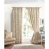 Curtina Renoir Natural 46x90 inches (116x228cm) Lined Curtains