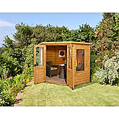 7ft x 7ft Cranbourne Corner Summerhouse 7 x 7 Garden Wooden Summerhouse 7x7