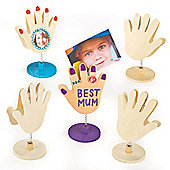 Wooden Hands Photo Holders (Pack of 4)