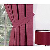 Milan 1 Pair of 26 Inch Tie-Backs - Raspberry